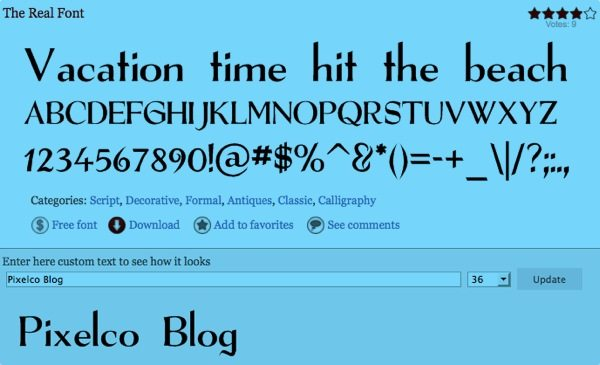 The Real Font free font