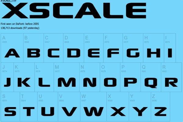 XSCALE free font