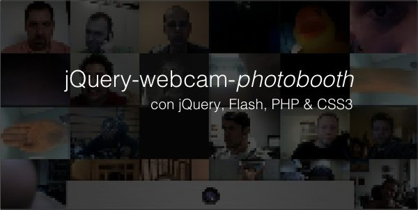 jQuery Webcam Photobooth