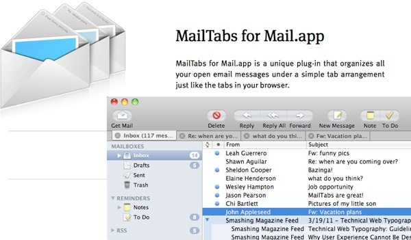 MailTabs for Mail