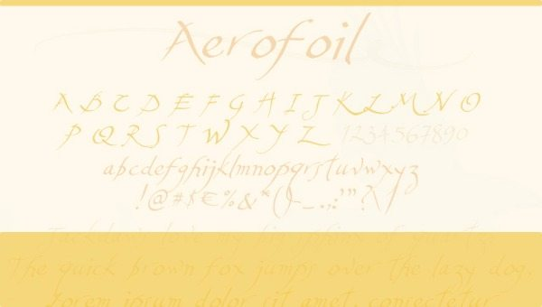 Aerofoil free font