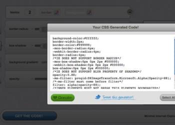 CSS3 Generator - código CSS
