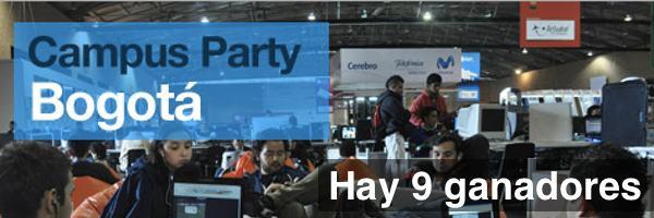 Campus Party Bogotá - Ganadores del concurso de Pixelco