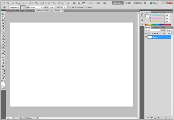 Dale color a la primer capa - Tutorial Photoshop: Cómo Crear Fondos Texturizados