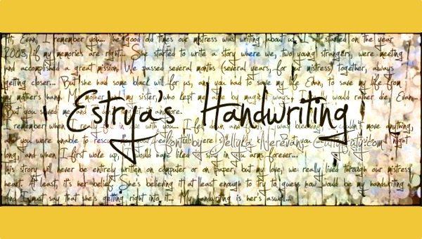 Estrya's Handwrinting free font