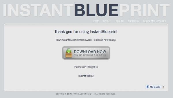 Instant Blue Print - descargar código