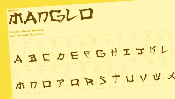 Manglo free font