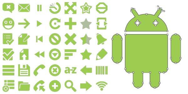 Native Android Icons - coleeción de iconos vectoriales