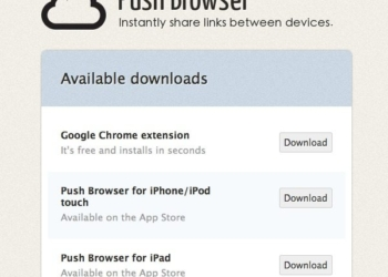 Push Browser - servicio online para compartir enlaces