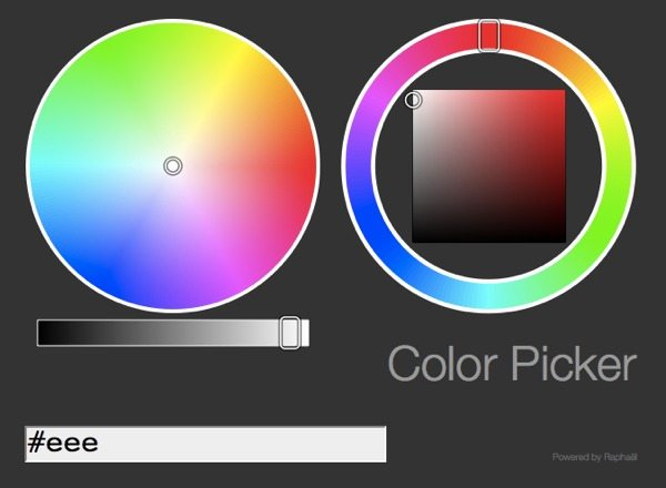 Raphael selector de color - biblioteca Javascript