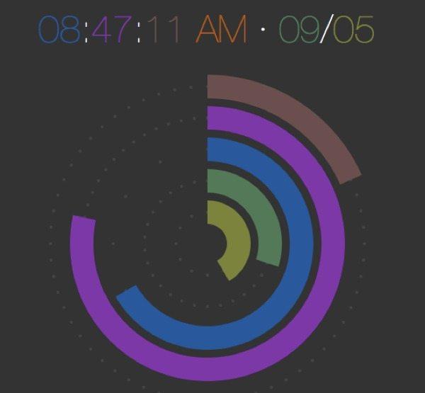 Raphael - reloj animado - biblioteca-javascript