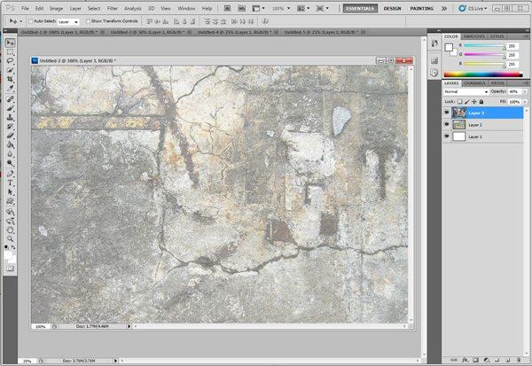 Repite pasos anteriores - Tutorial Photoshop: Cómo Crear Fondos Texturizados