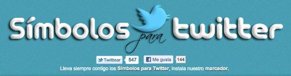 Simbolos para Twitter - servicio web