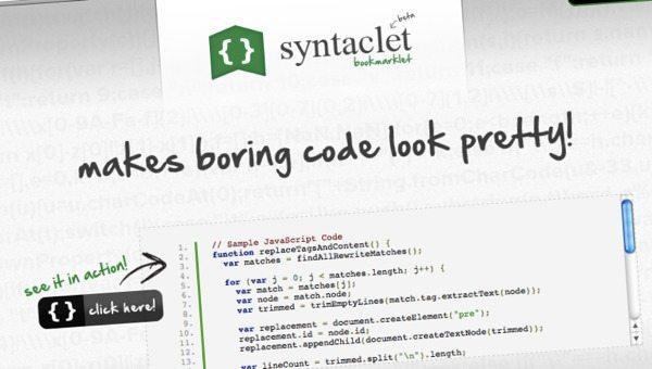 Syntaclet - Herramienta online para formatear código fuente