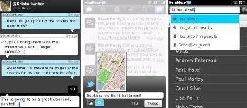 Twitter 20 para BlackBerry nuevo redes sociales