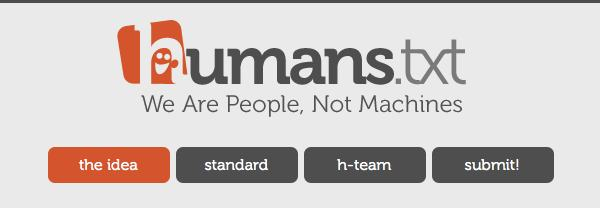 humans.txt - We are people, not machines