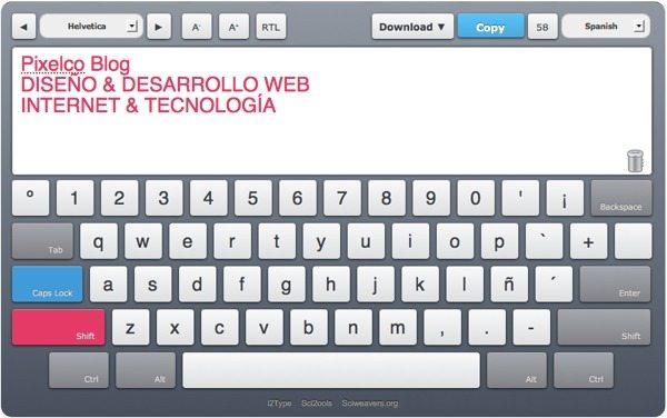 i2Type keyboard - tecladop en pantalla multi-idioma