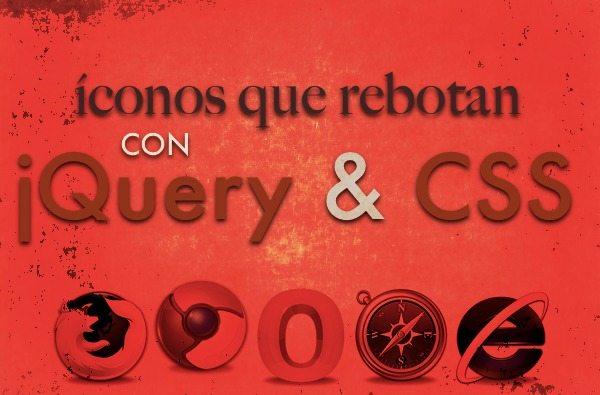 iconos que rebotan con jQuery y CSS