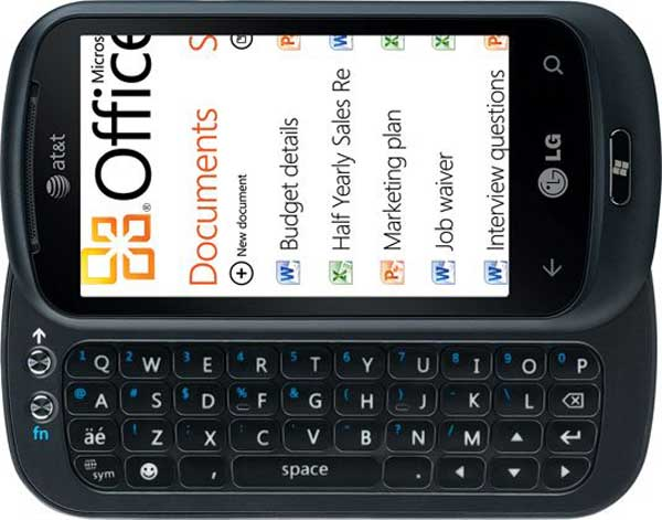 4 LG Optimus 7Q con Windows Phone 7 teclado QWERTY nuevo movil
