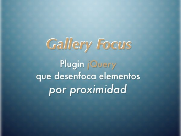 Gallery Focus - plugin jQuery