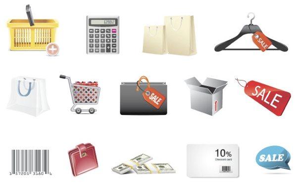 Shopping Icons - colección de iconos