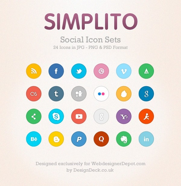 Simplito Social Icons Set