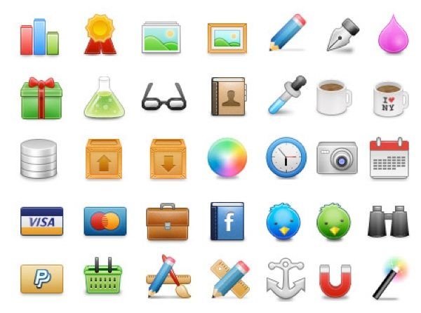 Web Iconset - colección de íconos