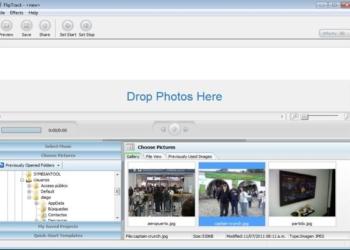 FlipTrack - aplicación gratis para Windows para crear video con fotografías