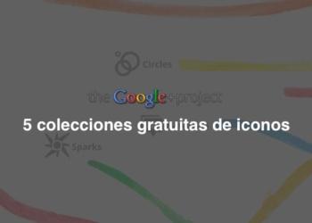 Google Plus 5 colecciones gratuitas de iconos