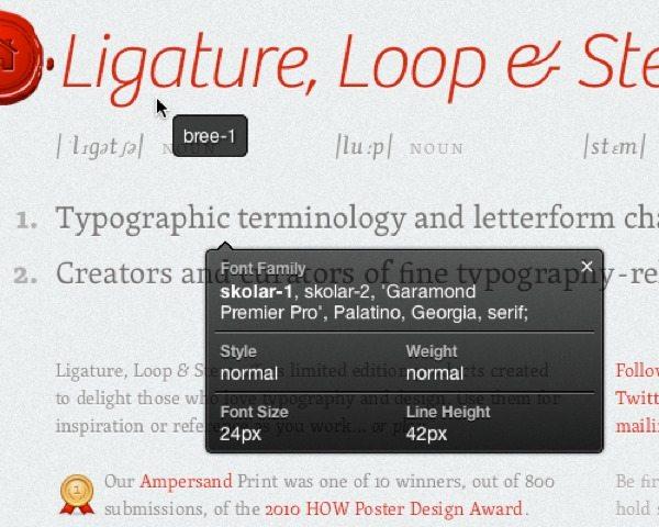 What Font - averiguar la fuente tipográfica de cualquier página web