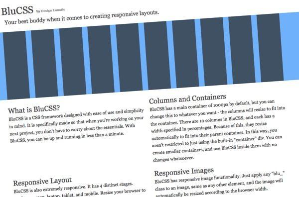 BlueCSS - framework CSS