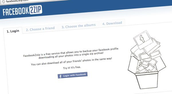 Facebook2zip - descargar las fotos de Facebook