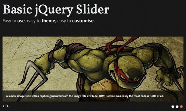 Basic jQuery Slider - slideshow con jQuery para mostrar todo tipo de contenido