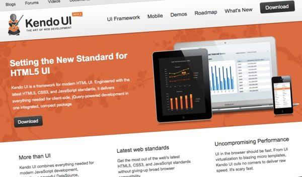 Kendo UI - Framework para desarrollo web