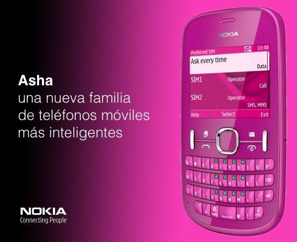 Nokia Asha una nueva familia de celulares inteligentes