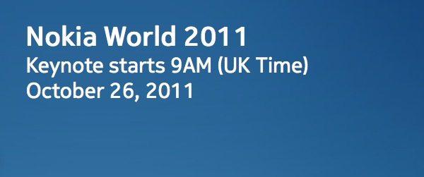 Nokia World, Keynote mañana 26 de octubre