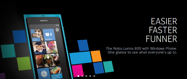Nolia Lumia 800 con WIndows Phone
