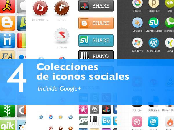 4 Colecciones de iconos de redes sociales