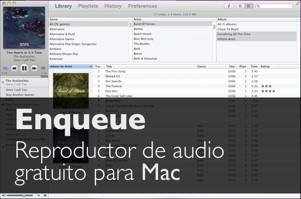 Enqueue reproductor de audio gratuito para Mac