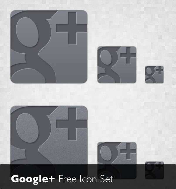 Google Plus - free icon set