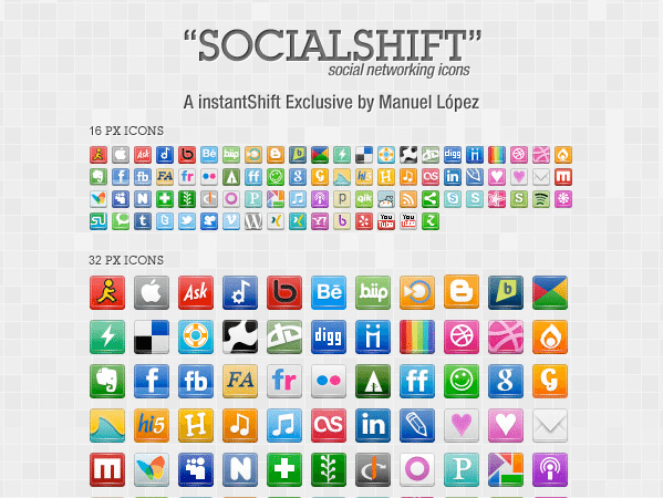 SocialShift icon set