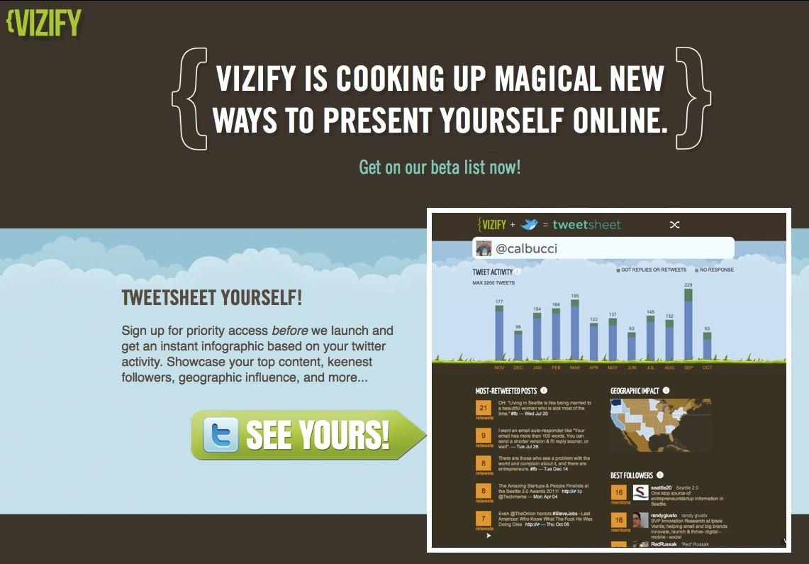 Vizify crear una infografía de nuestros tweets