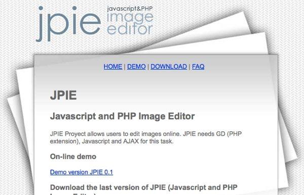 JPIE - Javascript- y PHP editor de imagenes