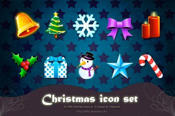 Christmas Icon Set - colección de iconos navideños
