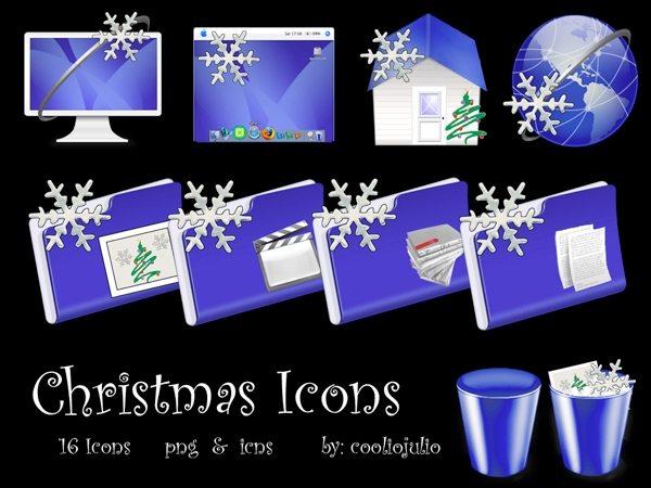 Christmas icons - colección de iconos navideños