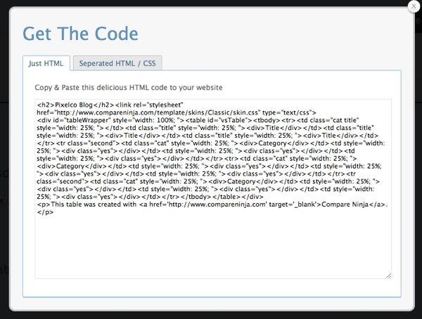 Compare Ninja - Obtener el código