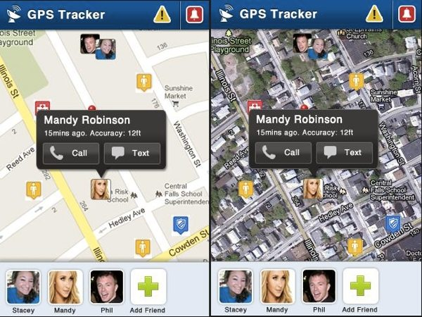 GPS Tracker Pro Interfaz