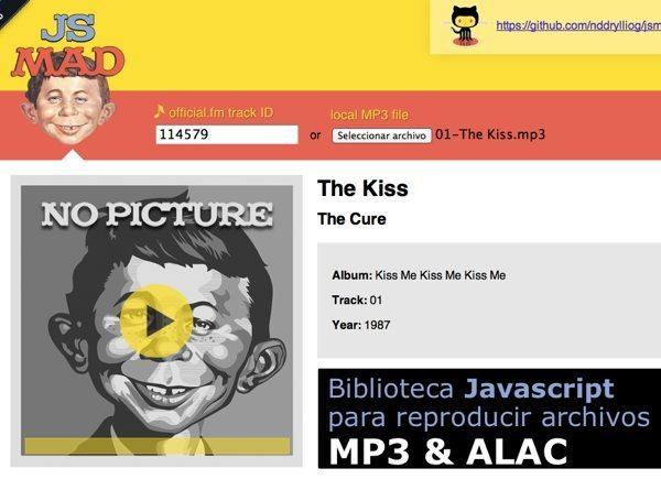 js Mad - Biblioteca Javascript para reproducir archivos MP3 & ALAC