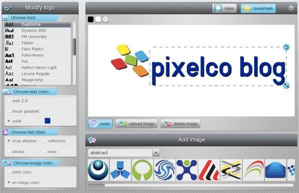LogoType Maker - editor interfaz
