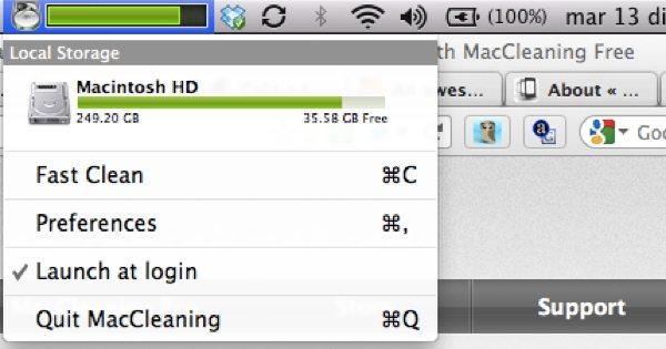 MacCleaning Free - Interfaz